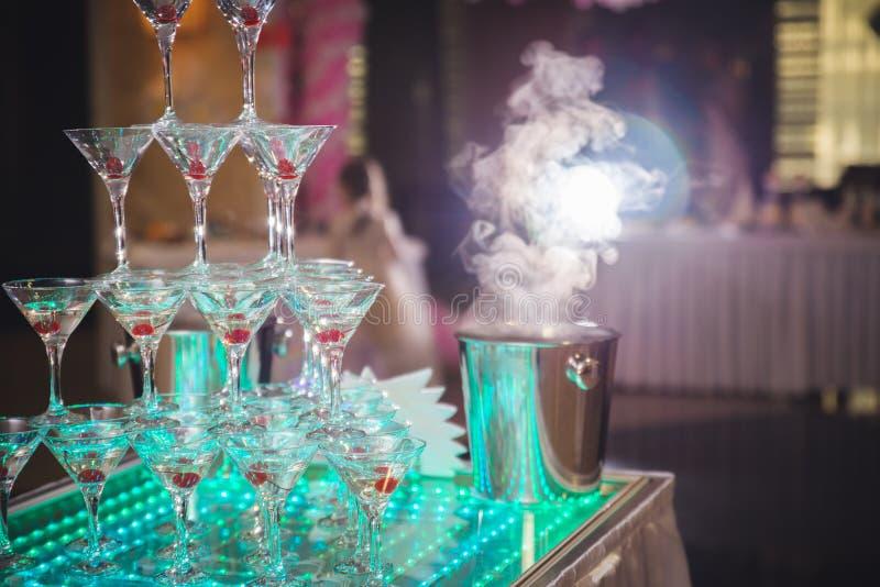 Wiśnia w szampanie zdjęcie royalty free