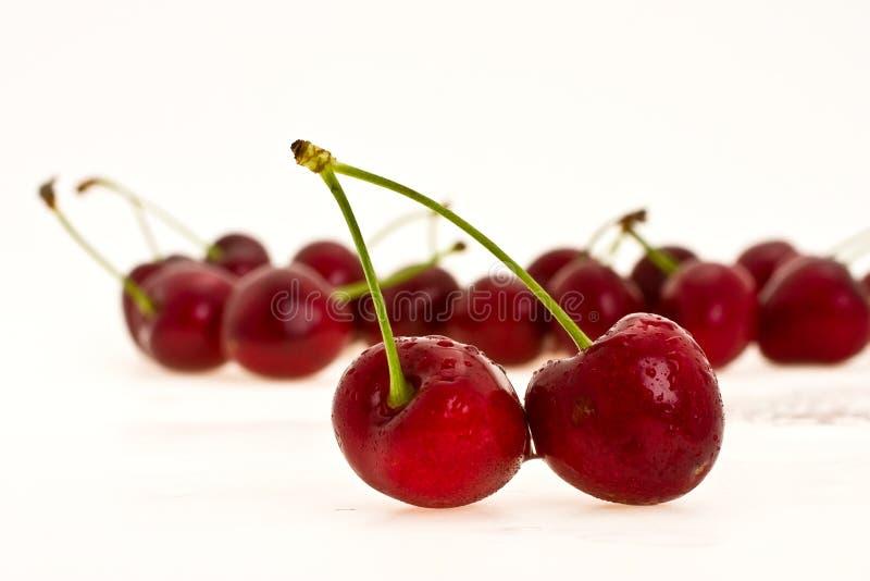 wiśnie i czereśnie słodkie fotografia stock