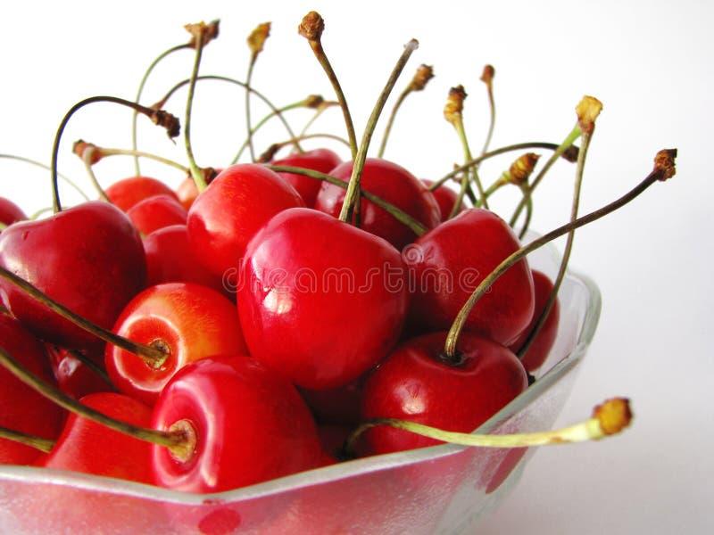 wiśnie i czereśnie smakowite zdjęcia stock