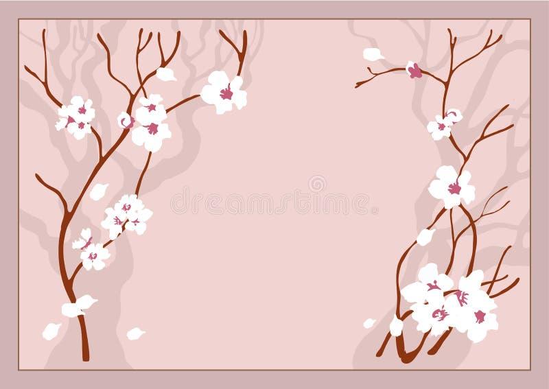 wiśnie kwiaty ilustracja wektor