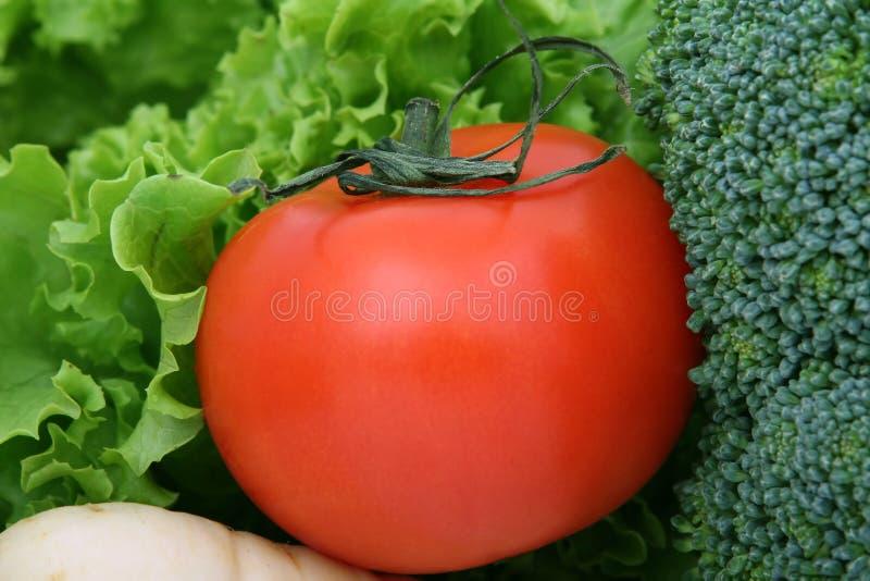 wiśnie zdrowe warzywa sałata pomidora obrazy stock
