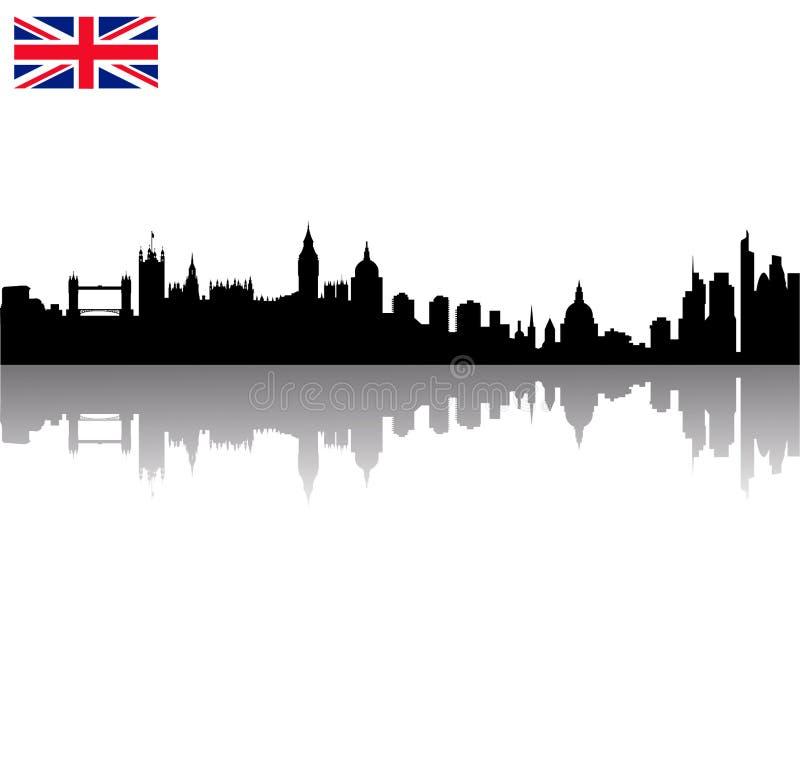 wi dell'orizzonte della siluetta di Londra di vettore illustrazione vettoriale
