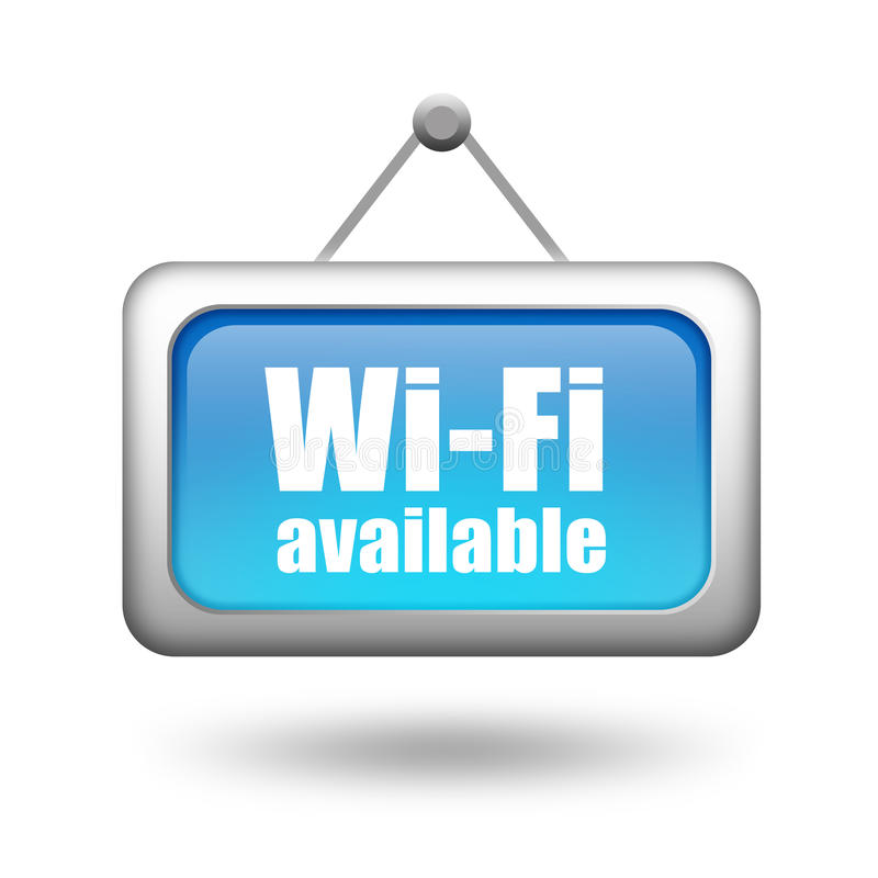 Wi-Fi可用的符号 库存例证
