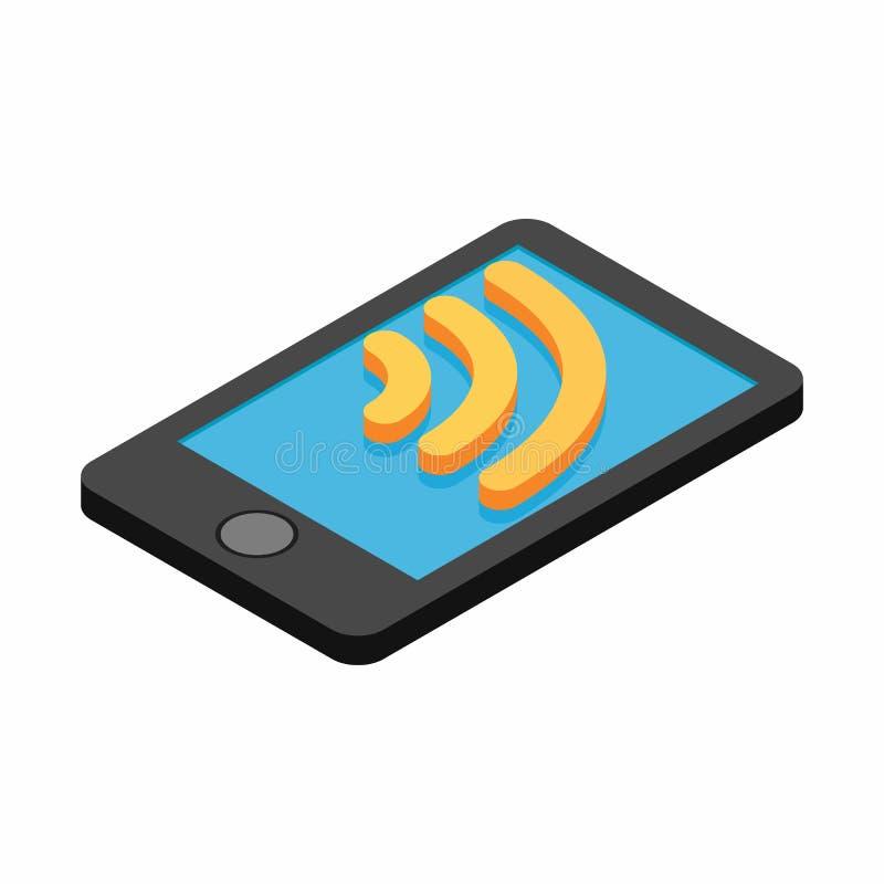 Wi-Fi在智能手机的互联网连接 皇族释放例证