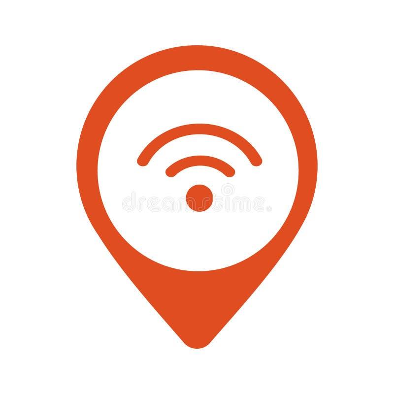 Wi-Fi地点尖象传染媒介 皇族释放例证