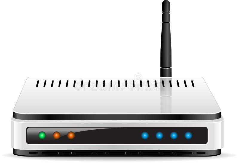 Wi-Fi路由器传染媒介 库存例证