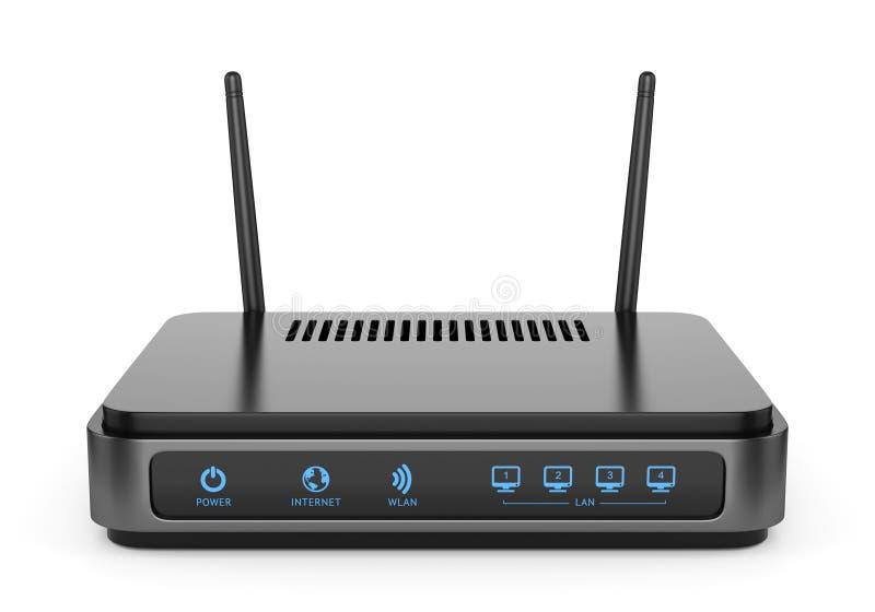 黑Wi-Fi路由器 向量例证