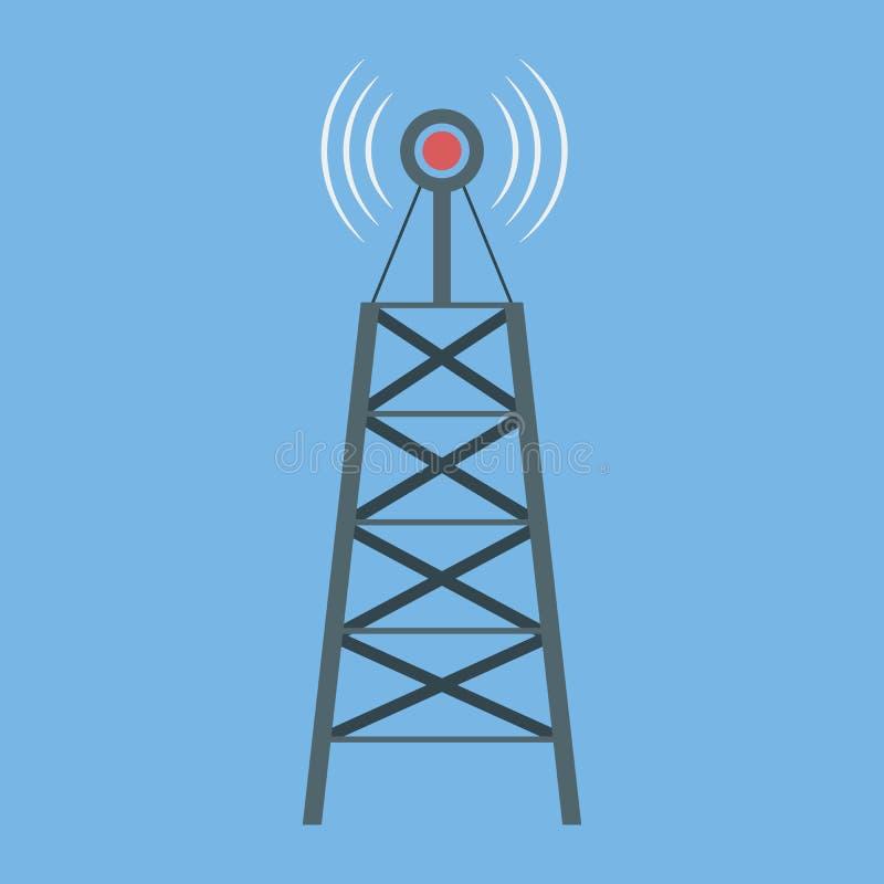 Wi-Fi连接象 一个无线标志 移动连接数 皇族释放例证