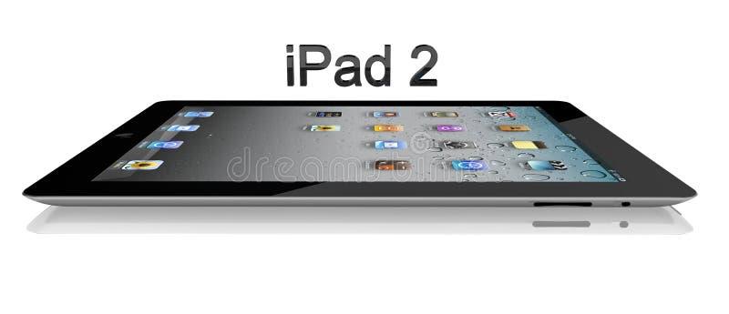 Wi-FI 2 64Gb van de appel iPad + 3G Zijaanzicht stock illustratie