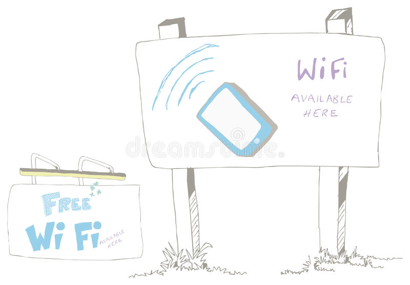 Download Wi Fi Available Sign stock vector. Image of free, laptop - 28928768