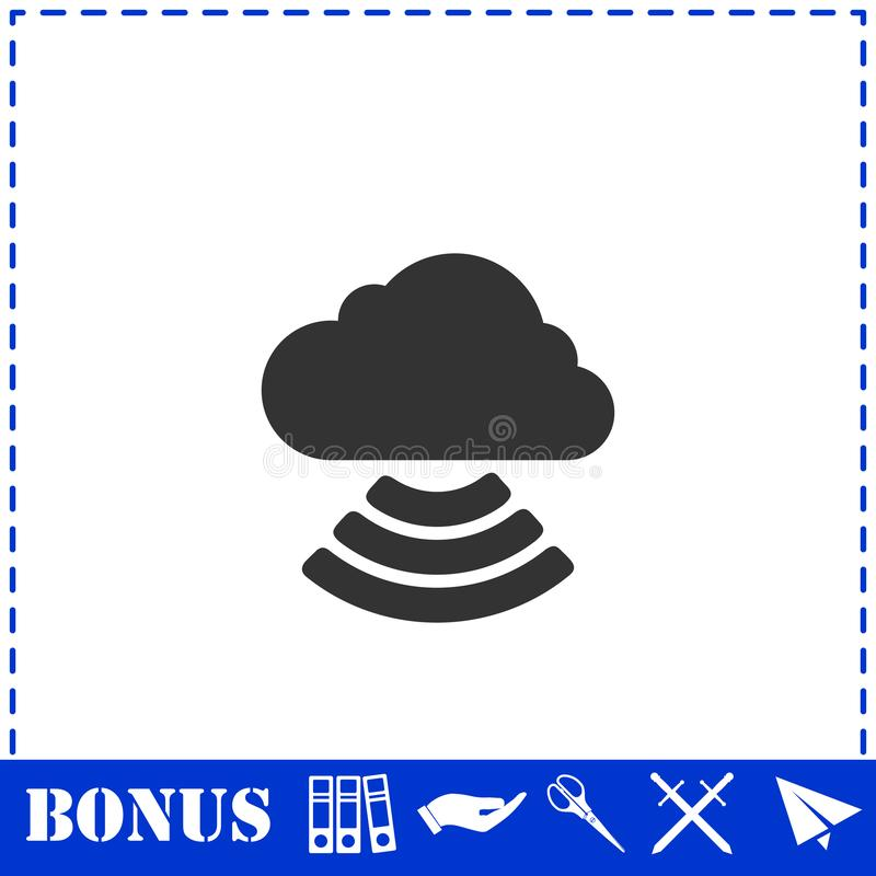 Wi-Fi cloud icon flat royalty free illustration