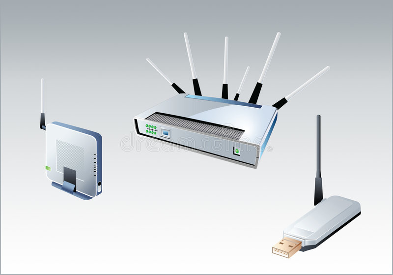 Wi-fi devices royalty free illustration