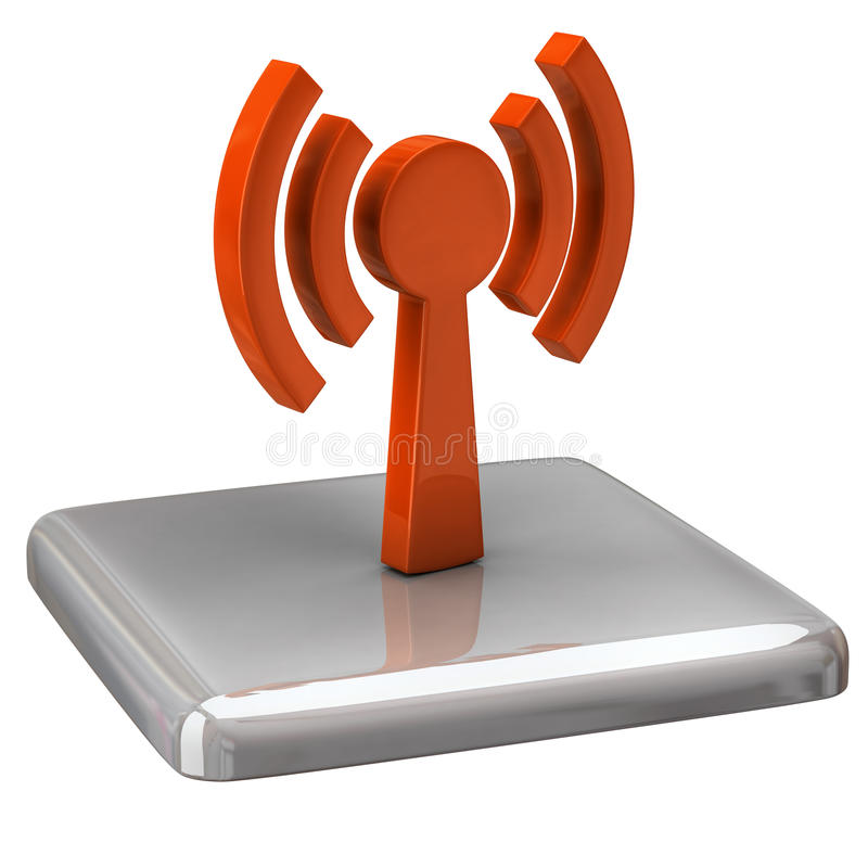 Download Wi-fi icon stock illustration. Image of glossy, sign - 16726034