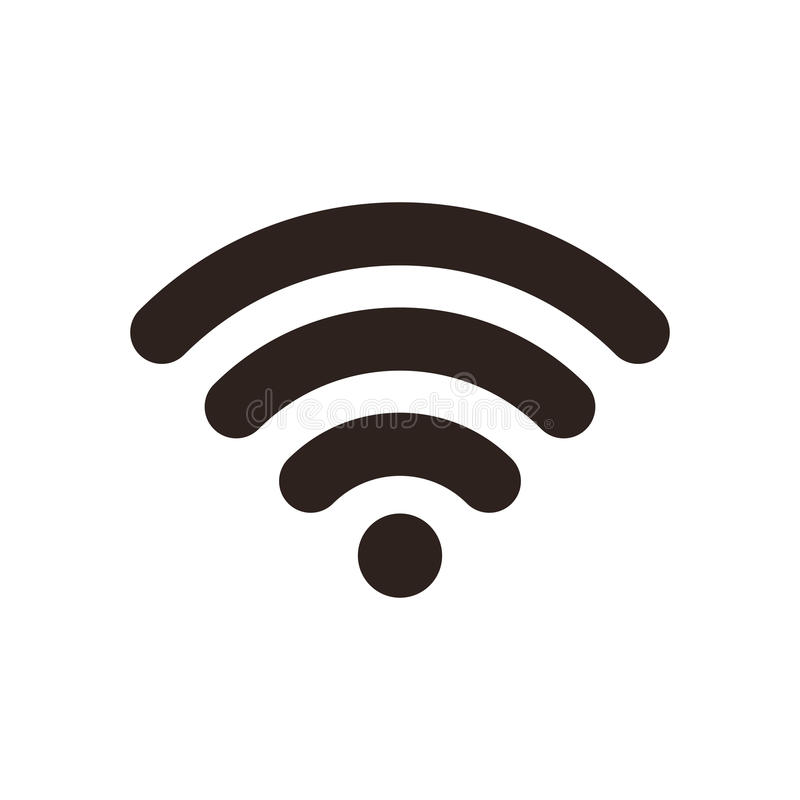 Wi-Fi Icon. Isolated on white background royalty free illustration