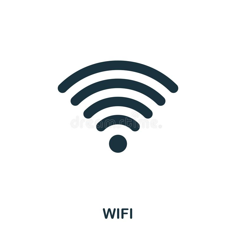 Wi Fi icon. Line style icon design. UI. Illustration of wi fi icon. Pictogram isolated on white. Ready to use in web. Design, apps, software, print royalty free illustration