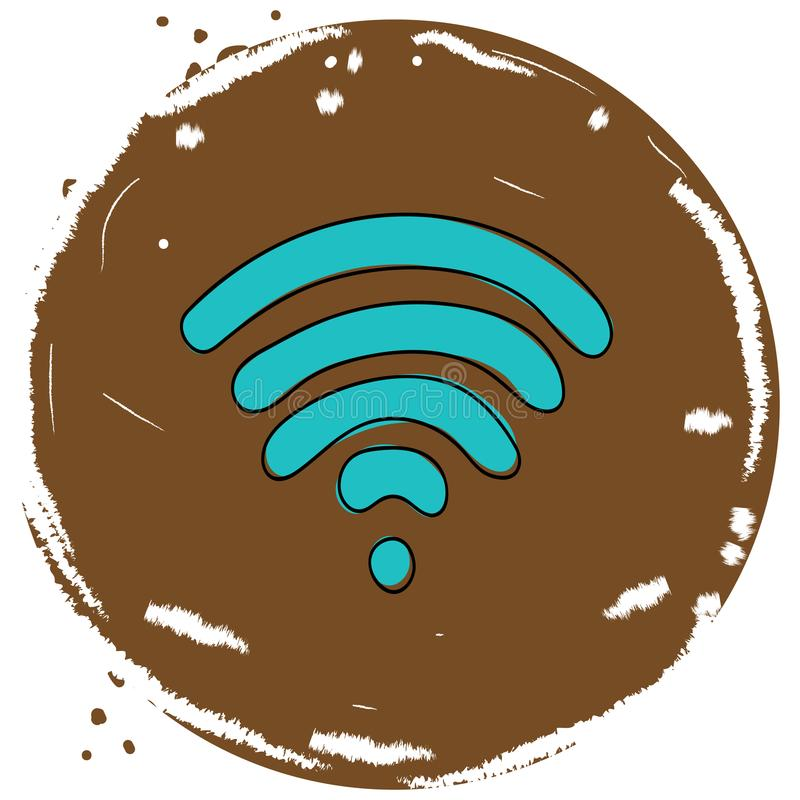 Wi Fi icon stock illustration