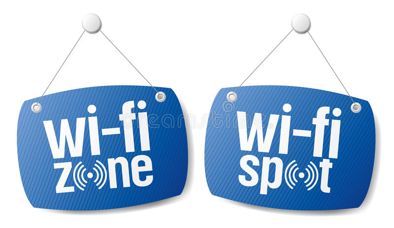 Wi-fi Internet Signal Signs. Stock Image