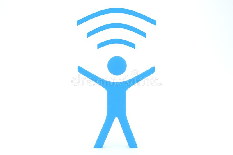 Wi-fi-man Royalty Free Stock Images