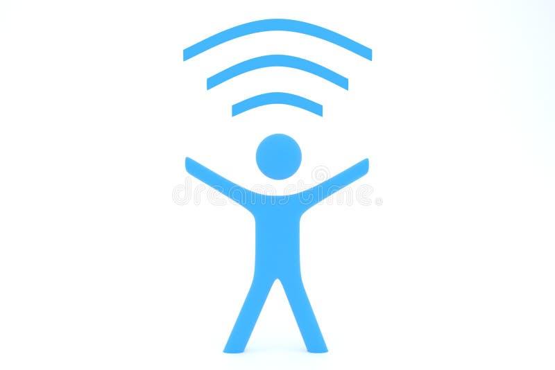 Wi-FI-mens royalty-vrije stock afbeeldingen