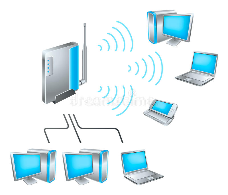 Wi-Fi network royalty free illustration