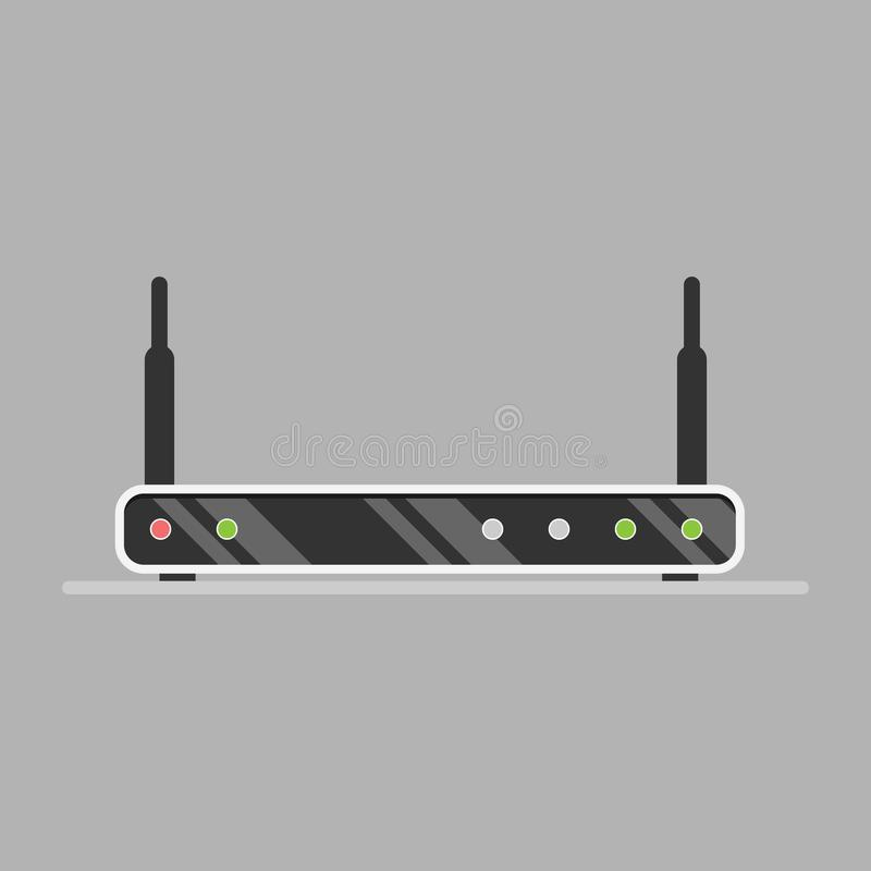 Free Wi-Fi Router Isolated On Grey Background Royalty Free Stock Photography - 105685777