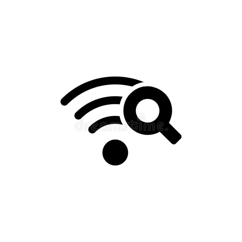 Wi-Fi Search icon. Simple glyph, flat vector of Technology icons for UI and UX, website or mobile application. On white background vector illustration
