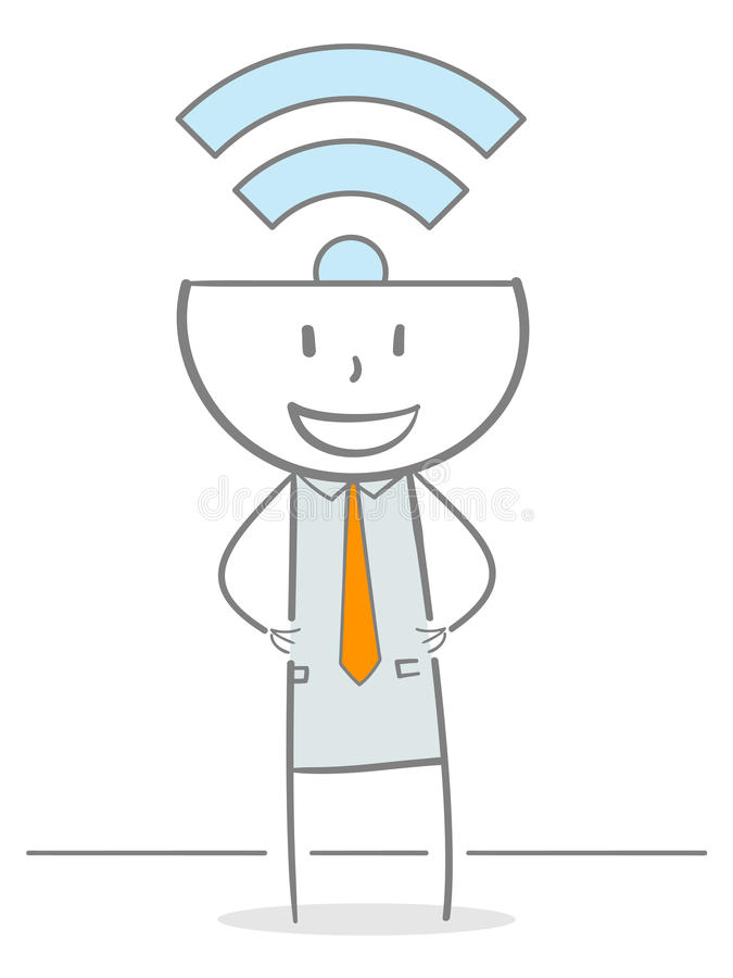 Wi-Fi Stickman illustration libre de droits
