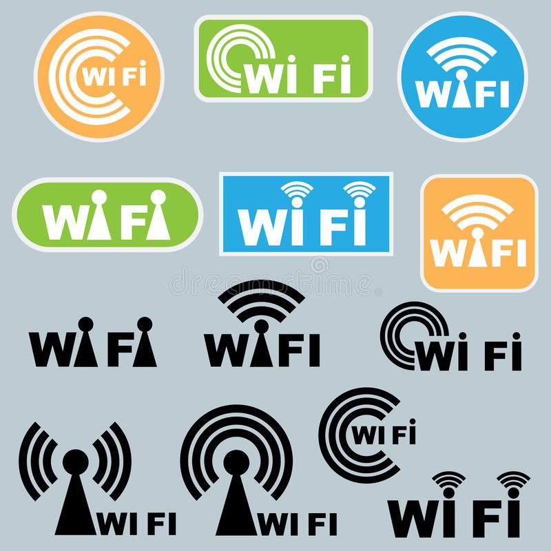 Download Wi-fi symbols stock vector. Image of green, group, spot - 18897549
