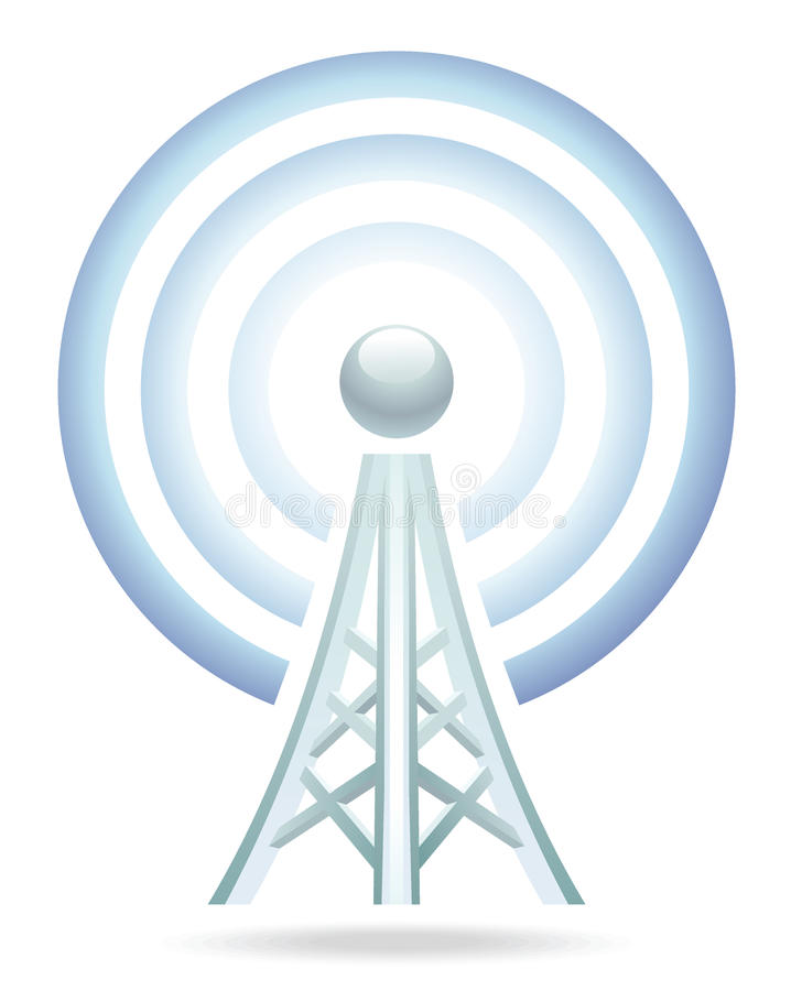 Wi-fi tower icon stock photography