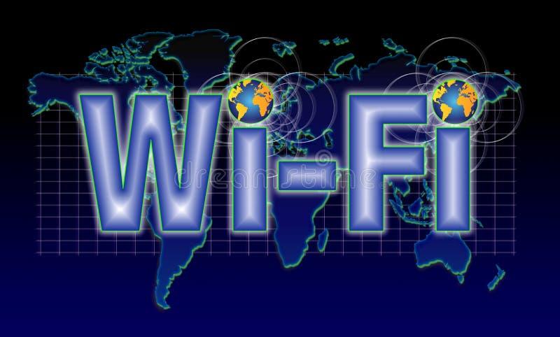 Wi het pictogramtelefoon van FI stock illustratie