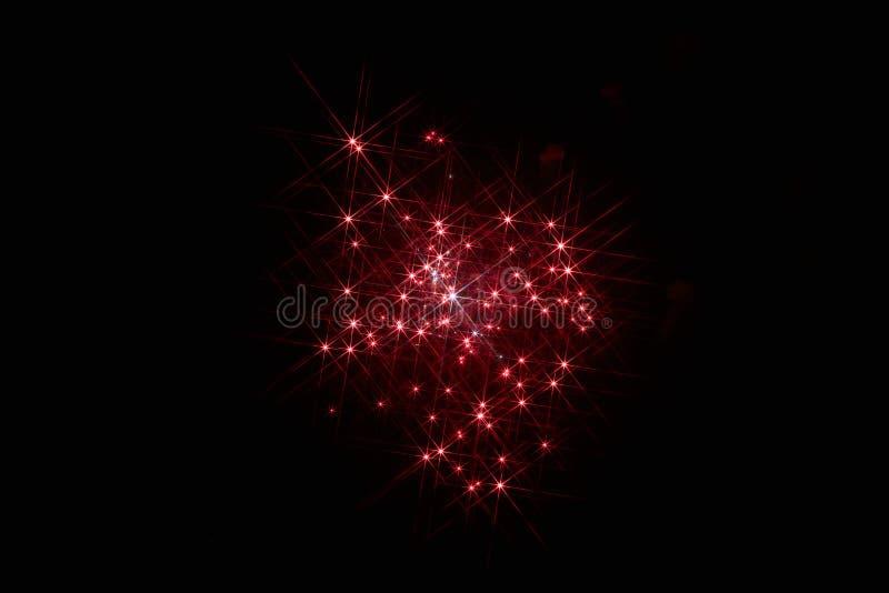 ?wi?teczni fajerwerki w ciemnym niebie zdjęcie royalty free