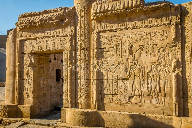 ?wi?tynia Edfu Dedykuj?cy jastrz?bka b?g Horus Egipt fotografia stock