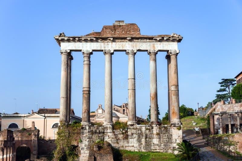 ?wi?tynia Saturn w Roma?skim forum - Rzym, W?ochy obrazy royalty free
