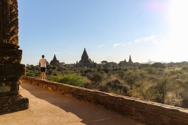 ?wi?tynie, Stupas i Payas Bagan, Myanmar obraz stock
