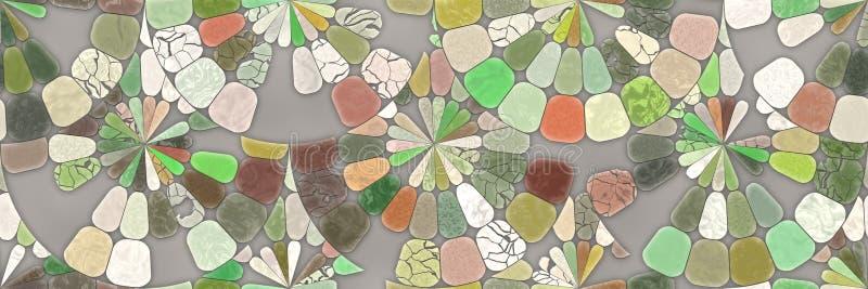 ?wiadczenia 3 d Abstrakcjonistycznej mozaiki architektury ceramiczny ?cienny t?o royalty ilustracja