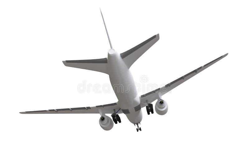 ?wiadczenia 3 d samolotowego t?a odosobniony biel ilustracji