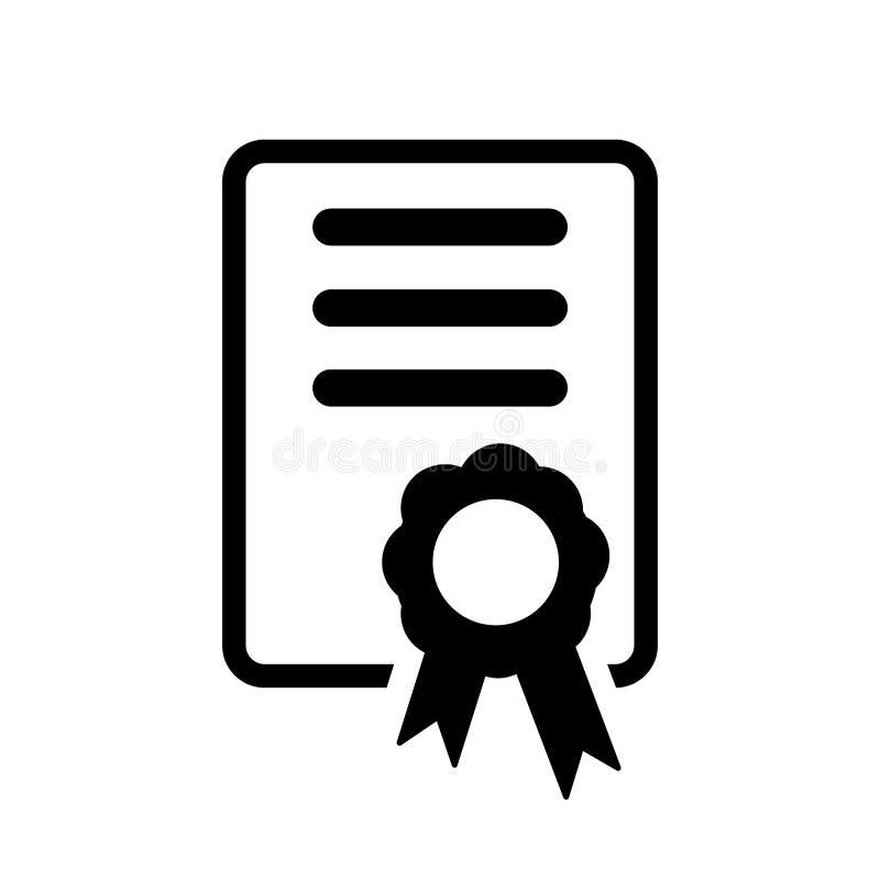 ?wiadectwo ikony wektor Licencji odznaki wektorowy ilustracyjny symbol Zwycięzcy medalu logo royalty ilustracja