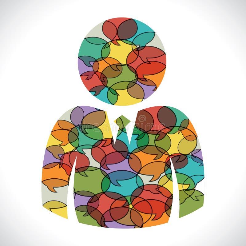 Wiadomość bąbel robi użytkownik ikonie ilustracji