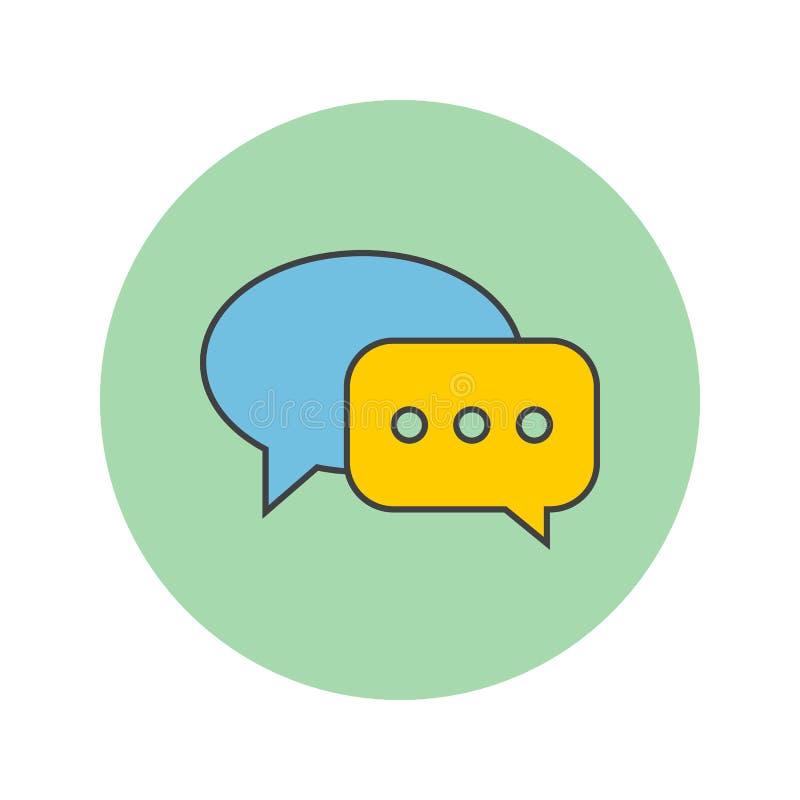 Wiadomość bąble cienieją kreskową ikonę, gadka wypełniający konturu wektoru logo ilustracji