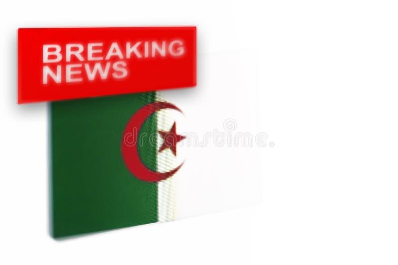 Wiadomość dnia, Algieria kraju flaga i wpisowa wiadomość, obrazy royalty free