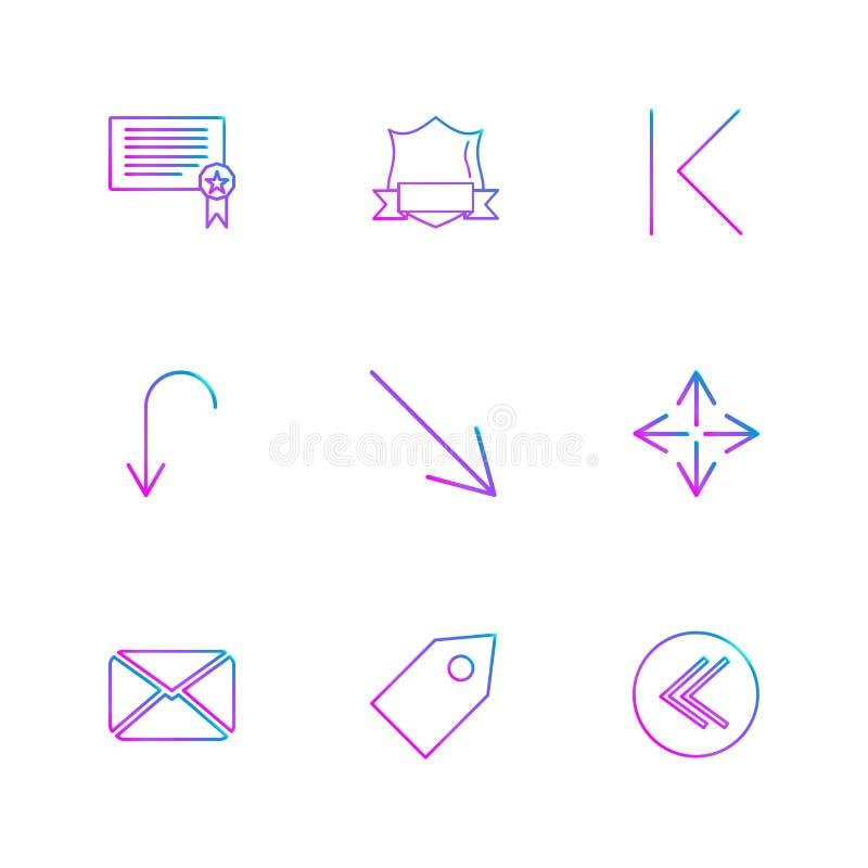 wiadomość, etykietka, osłona, strzała, kierunki, avatar, ściąganie royalty ilustracja