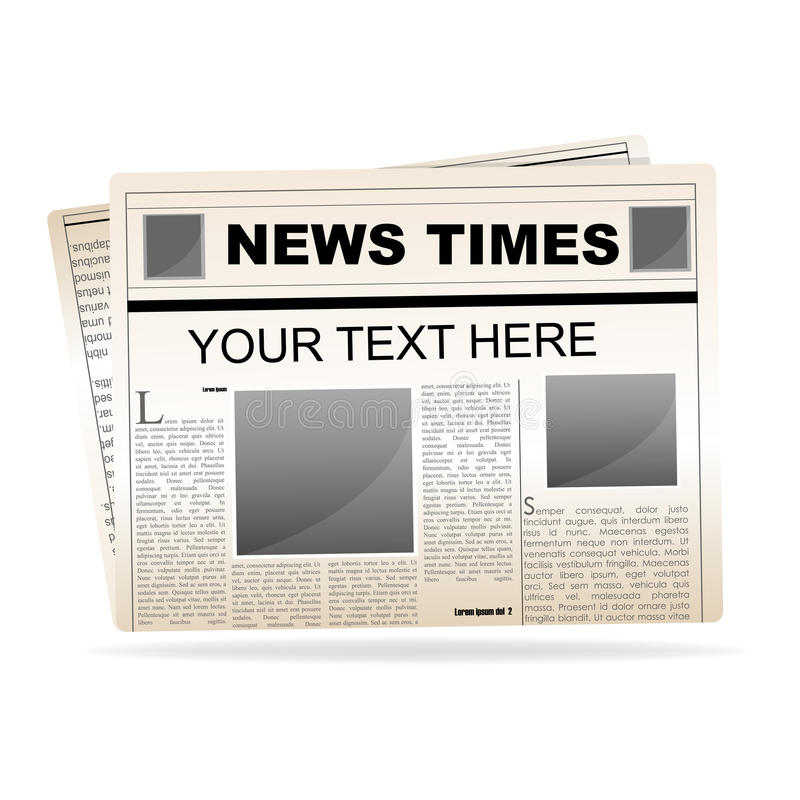 wiadomość papier royalty ilustracja