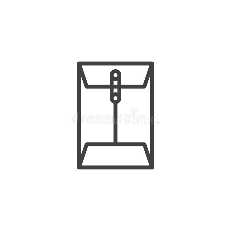 Wiadomość papierowego dokumentu klamerki konturu ikona ilustracji