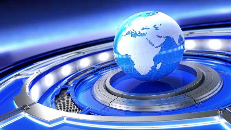 Wiadomość, radiowo-telewizyjne środki przekazu pojęcie Abstrakcjonistyczny wizerunek światowa kula ziemska royalty ilustracja