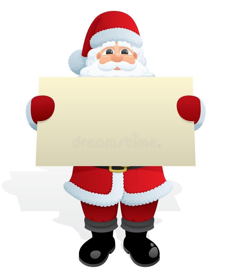 wiadomość Santa ilustracji