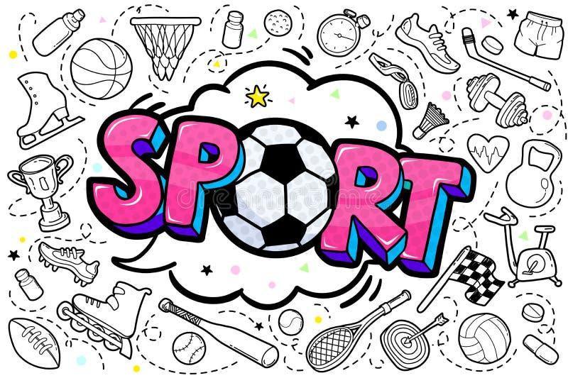 Wiadomość sport z piłki nożnej piłką w wystrzał sztuki stylu ilustracji