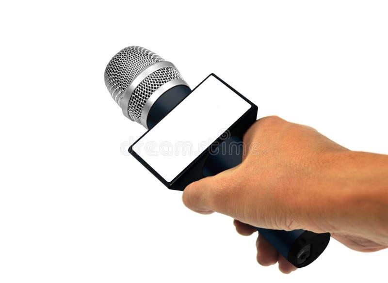 Wiadomość wywiad obraz stock