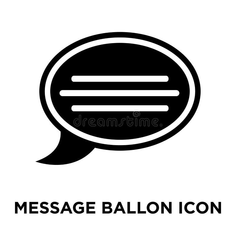 Wiadomości Ballon ikony wektor odizolowywający na białym tle, logo co ilustracja wektor