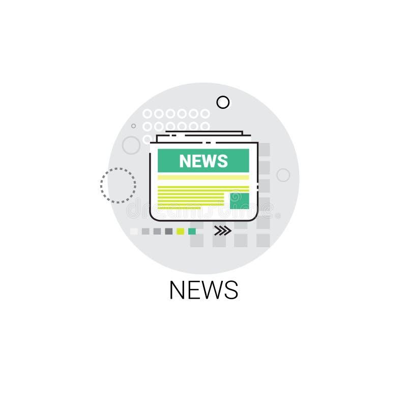 Wiadomości gazetki sieci Podaniowa Gazetowa ikona ilustracji