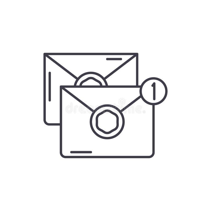 Wiadomości linii ikony pojęcie Wiadomości wektorowa liniowa ilustracja, symbol, znak ilustracja wektor